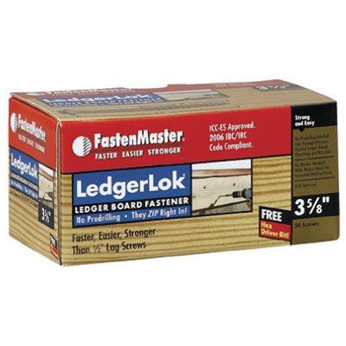 FastenMaster FMLL358-50 LedgerLOK Ledger Board Fastener - 3-5/8 in. - 50 Count