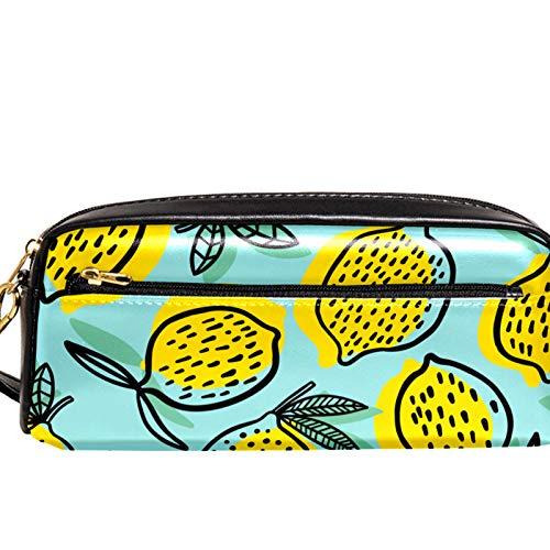 Bolsas de cosméticos para mujeres, organizador de artículos de aseo de viaje a prueba de agua, colección de compartimentos duales, 2 cámaras independientes con cremallera, estuche verde limón