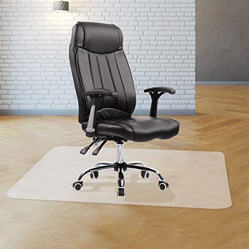 YINN Glatte Rollstuhl-Matte, antistatisch, Bodenschutzmatten, klare Hartholz-Bodenmatte, verschleißfeste Schreibtischunterlage, Schutzteppich für Büro, Flur, Küche