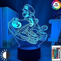 スーパーマリオカーレースLEDナイトライトゲームルームの装飾キッズ子供ベッドルーム常夜灯クールなアイデアギフトショップUSBテーブルランプ