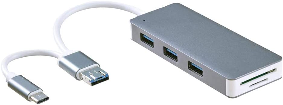 famous Baosity USB 3.0 Multi-Port Hub Read Card SD A surprise price is realized TF Type-C+Micro