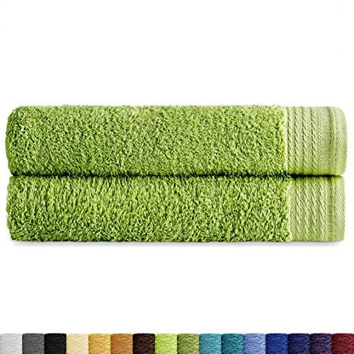 Eiffel textiel handdoeken, kwaliteit badstof, 600 g, 100% Egyptisch katoen, bladen, 100 x 150 cm, 2 stuks