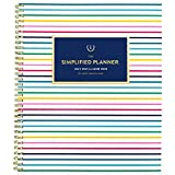 Academic Planner 2021-2022, Simplified by Emily Ley for AT-A-GLANCE Weekly & Monthly Planner, 8-1/2' x 11', Large, for School, Teacher, Student, Thin Happy Stripe (EL60-905A)