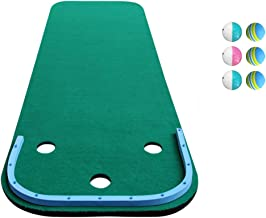 Golf Putting Mats Professional Golf Putting Green Mat Artificial Grass Golf Training Aid Equipment Mat with Putter Golf Ba...