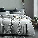 Michorinee - Juego de ropa de cama de invierno de peluche, 200 x 200 cm, cachemira, suave y cálido, forro polar coral, con cremallera, color gris, 200 x 200 cm + 2 x 80 x 80 cm