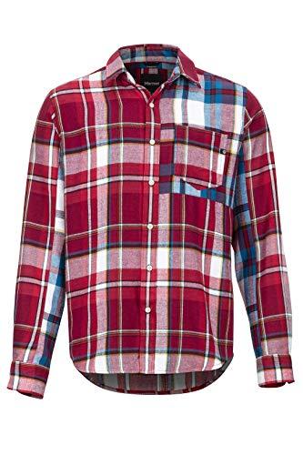 Marmot Asheville Midwt Flannel LS Chemise d'extérieur à Manches Longues, Chemise de randonnée, avec Protection Anti-UV, Respirante Homme Brick FR: M (Taille Fabricant: M)