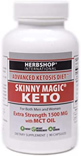 Hi Potent Skinny Magic® Keto - Diet- Weight Loss 90 Veg-Capsules with MCT Oil - BHB Salts 1500mg - Ketogenic Supplement - 30 Day Supply