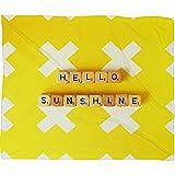 Deny Designs Happee Monkee Fleece Blanket, Hello Sunshine Scrabble