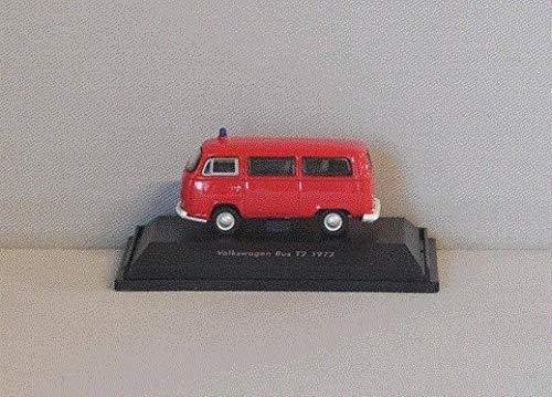 VW T2 Bus, Feuerwehr, 1972, Modellauto, Fertigmodell, Welly 1:87