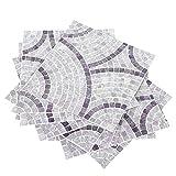 10 Uds pegatinas de azulejos impermeables pegatina antideslizante para suelo autoadhesivo adhesivo de pared para baño cocina Backsplash decoración del hogar vinilo