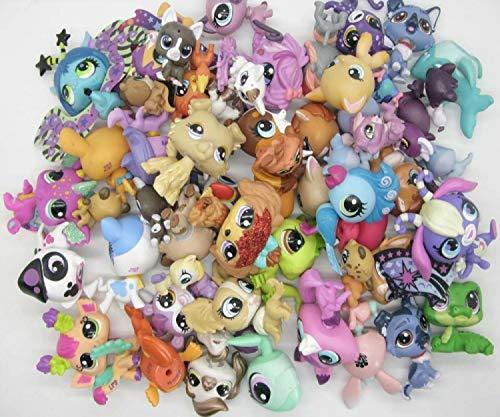 Littlest Pet Shop Kid Toy LPS Chat et Chiens 10pièces / Set aléatoire Animal Littlest Toy Pet Shop Jouet Mignon lol Animaux patrulla canina Figurines d'action Jouets pour Enfants