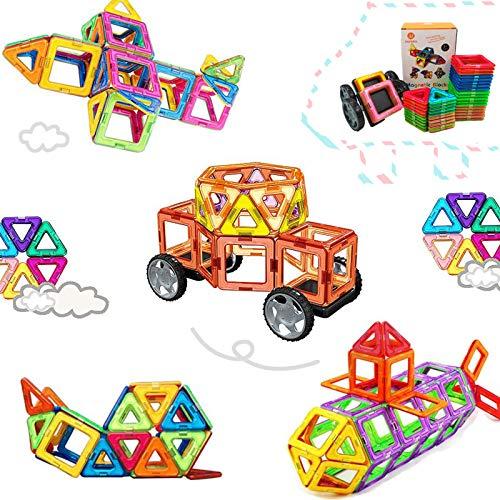 46 Pezzi Piastrelle magnetiche Blocchi di Costruzione Giocattoli educativi impostati per i Bambini, da Set di Costruzione di Costruzione Morcare (46 PCS)
