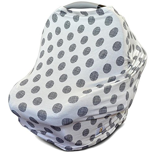 Kids N' Such Baby Car Seat Cover Car Seat Canopy & Nursing Cover, Dots