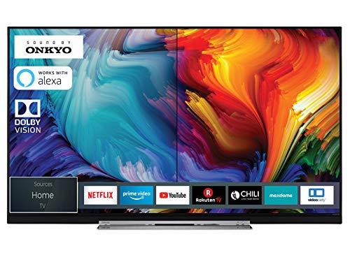Toshiba 49U7863DA 124 cm (49 Zoll) Fernseher (4K Ultra HD, HDR Dolby Vision, Triple Tuner, Smart TV, Sound von Onkyo, Works with Alexa)