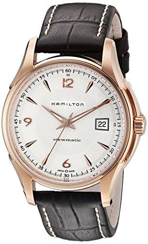 Hamilton Herren Analog Automatik Uhr mit Leder Armband H32645555