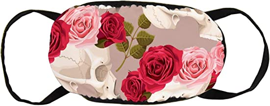 Skulls and Roses Seamless Cotton Gezichtsmasker Mo...