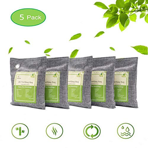 Air Purifying Bags Activated Bamboo Charcoal Natural Air Purifier Freshener...