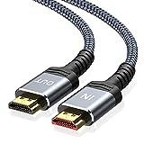 Highwings 4K 60HZ HDMIケーブル 6.6フィート/2m 18Gbps 高速HDMI 2.0編組コード 4K 60Hz HDR ビデオ 4K 2160p 1080p 3D HDCP 2.2 ARC対応 イーサネットモニター PS4/3 4K Fire Netflix対応 33 feet グレー