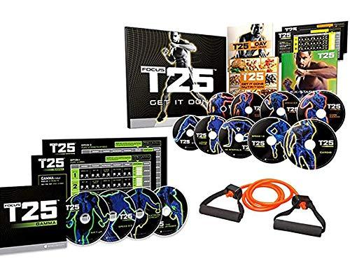 MMMJY T25 Shaun T DVD Videos Alpha + Beta Workout Exercise +15LB Elastic Band 25 Minutes Workouts Fitnes Program