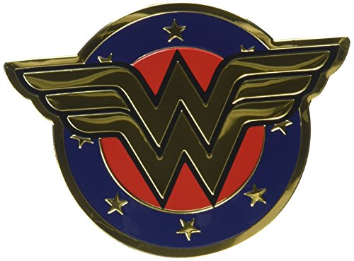 Preisvergleich Produktbild C&D Visionary DC Comics Licensed Heavy Duty Embossed Metal Sticker-Colored Wonder Woman Shield