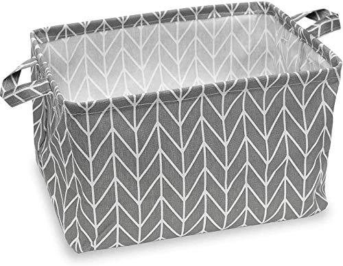 Feluna® Aufbewahrungskörbe aus Leinen verschiedene Ausführungen; Blumenkübel Spielzeug-Box Klappbox Organisations-Körbchen Badezimmer-Korb Deko-Korb (Klappkorb)