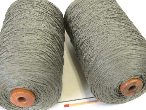 絹紡(太)(モスグリン) しっとり、しなやかな扱いやすい絹糸です