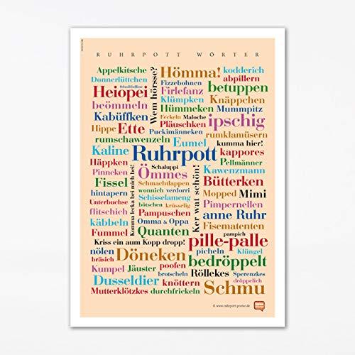 Poster Ruhrpott Wörter (50x70 cm)