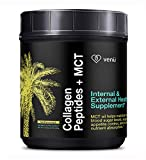 Collagen Peptides and MCT Oil Powder –Grass-Fed, Hydrolyzed Bovine Protein with Medium Chain Fatty Acids - Keto and Diet Friendly Supplement for Anti-Aging, Weight Loss, Skin, Bones and Joints
