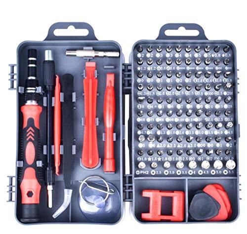 Repareer de schroevendraaier-gereedschapsset 115 in een handgreep voor magnetische lagregeling. rood