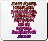 John 14: 6 Slowakisches rutschfestes Gummi-Mousepad, Gaming-Mauspad