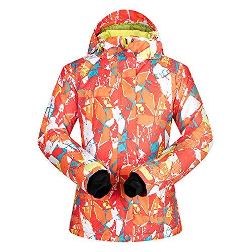 YRFDM Combinaison de Ski,Veste de Ski Femme Hiver Coupe-Vent imperméable Respirant Thermique Neige Snowboard Veste de Ski et de Snowboard, JHPT, XL