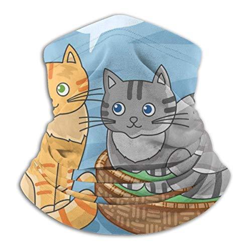 LCYYDECO Bandanas Half Face Balaclava Cute Cats Meow Together Calentador de cuello de microfibra para exteriores, deportes