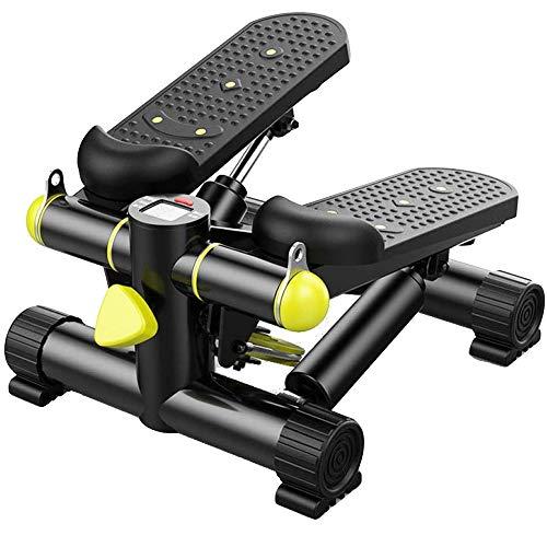 XCBW Mini Hydraulic Stepper, 2-in-1-Mute-Stepper mit einstellbarem Widerstands-LCD-Display für Cardio-Training im Innenbereich