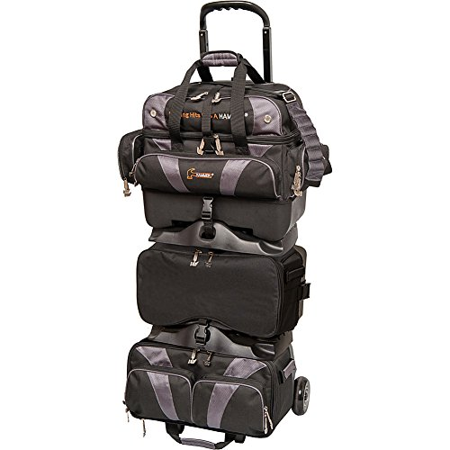 HAMMER Premium 6-Ball stapelbar Bowling Bag, Schwarz/Carbon