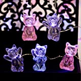 Impress Life Decorative Lights 3D Pet Cat String Lights, USB & Battery Powered with Remote 10 ft 30 LEDs Cute Kitten Animal Fairy String Lights for Bedroom Party Indoor Christmas Decor