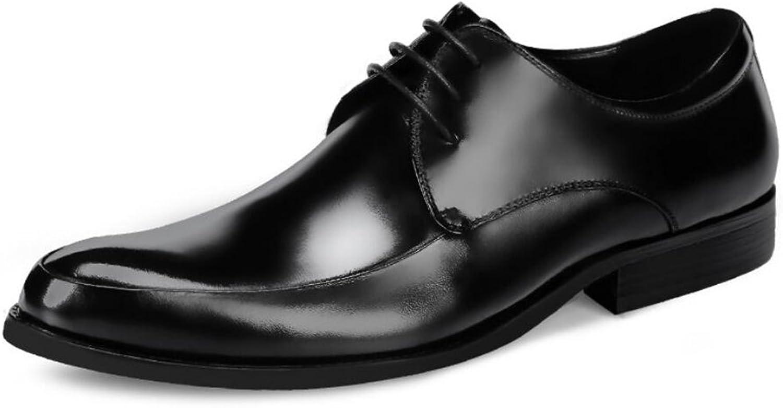 Formala skor för män, läderskor, brittiska Lun Leather Store Storlek Storlek Storlek skor Men Tide skor Wedding  Party Formal skor (Färg  Svart, Storlek  43)  billigt försäljning online
