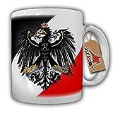 Original Militär Preußen Swr Schwarz Weiss Rot Adler- Tasse #6388a