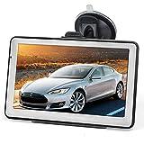 7' GPS Voiture 8GB, Hieha Appareil de NavigationÉcran Tactile, Instructions Vocales, Système de Navigation avec Multi-Languages pour Voiture Camion, Carte Mise à Jours Graduite