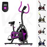 Aérobique Formation Exercice Vélo Cycle Aptitude Cardio Faire du Sport Maison Cyclisme Courses Machine (Violet)