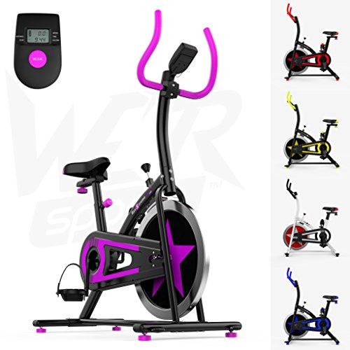We R Sports Aerobico Formazione Esercizio Bici Ciclo Fitness Cardio Allenamento Casa Ciclismo Corsa Macchina (Bianco)