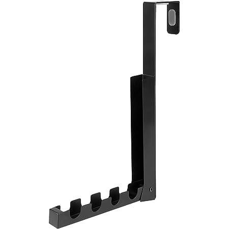 MHD 折り畳みドアハンガー ドアフック 収納フック コンパクト 引っ掛かりが4ヵ所 収納ラック4つ付き 耐荷重約6kg ブラック MHD-GYJ01