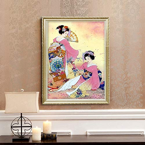 baodanla Geen frame Japanse geisha vrouwen olie schilderij huis decoratie geschenk