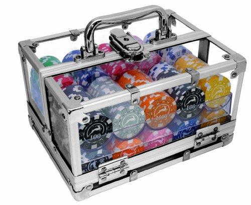 Modiano - Maletín con fichas de póquer (Aluminio, 400 fichas de 14 g), Transparente [Importado de Italia]