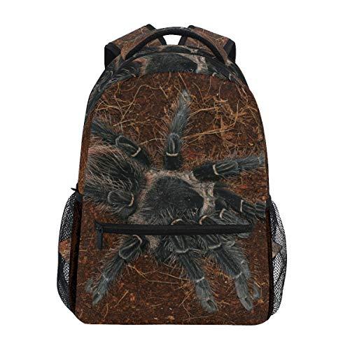 Schwarze Spinne Art Studentenrucksack Kinderrucksack Büchertasche Schülerrucksack mit Laptop Rucksäcke für die Reise Teen Mädchen Jungs