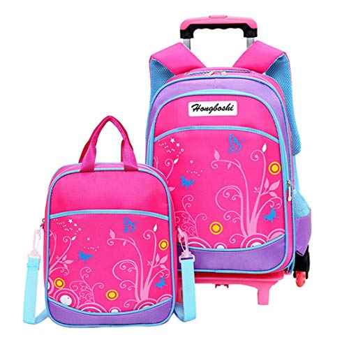 Children's School Bag Set Children's Suitcase with Wheels Trolley Luggage Boys Travel Trolley Backpack