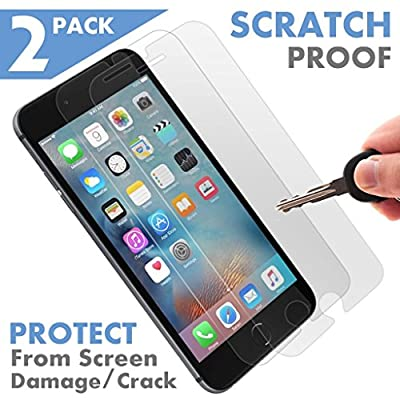 [2 Pack] [ Premium ] Apple iPhone 7 Tempered Glass Screen Protector - Shield, Guard & Protect from Crash & Scratch - Anti Smudge, Fingerprint Resistant & Shatter Proof - Best Front Cover Protection from Voxkin
