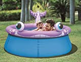 Jilong Whale Spray Inflatable Kiddie Pool for Ages 3+, 69' x 24.5'