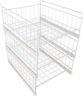 Boîte de rangement de garde-robe Étagère rangement table étagère suspendue métal métal rangement panier organisateur de bu...