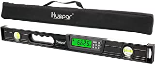 Huepar Digital Torpedo Level and Protractor 24 Inch with 2 High-Accuracy Bubble Vials & LCD Display, Aluminum Alloy Electr...