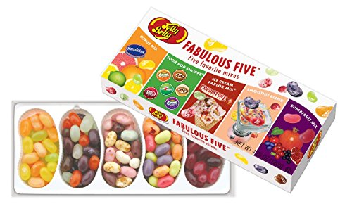 Jelly Belly Fabulous Five Jelly Bean Gift Box - 4.25 oz - Official, Genuine, Straight from the Source